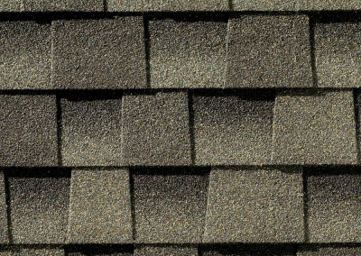 GAF's Timberline HD Weathered Wood shingle swatch