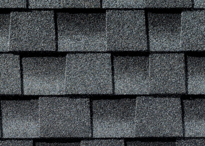 GAF's Timberline HD Pewter Gray shingle swatch